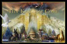 Seven Mountain Art, James Nesbbit. Prayer - Thy Kingdom Come Thy Kingdom Come, The Kingdom Of God, Pictures Of Jesus Christ, Bride Of Christ, Prophetic Art, Art Thou, Mountain Art, Lord And Savior, King Jesus