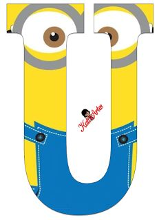 Typography - Minion Alphabet - Letter U Minion Birthday Banner, Minion Party, Boy Birthday, Minion Craft, Birthday Themes For Boys, Despicable Me, Alphabet And Numbers, Baby Boy Shower, Lettering