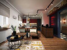 Casinha colorida: Um apê no melhor do estilo loft