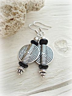 African Earrings  African Jewelry  Tribal by HandcraftedYoga, $21.00