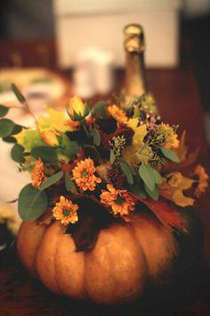 Оформление осенней свадьбы   Fall wedding decoration