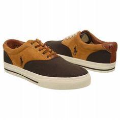 Amazon.com: Polo Ralph Lauren Men's Vaughnsaddle Fashion Sneaker: Color: Dark Brown