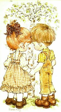 Sarah Kay and friends Sarah Key, Holly Hobbie, Cute Images, Cute Pictures, Colouring Pages, Coloring Books, Mary May, Creation Photo, Grafiti