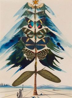 In a radical partnership with Hallmark Cards, visionary artist Salvador Dali painted holiday themed works for greeting cards during the height of his fame.
