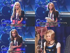 Hannah Montana... this made me cry, even lily takes her wig off! ;(