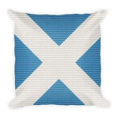 Scottish Knitted Style Pillow