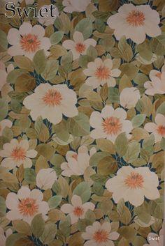Retro bloemenbehang | Swiet