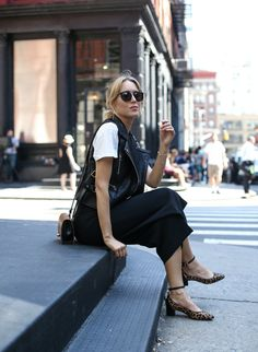 Leather Vest and Leopard Pumps   MEMORANDUM   NYC Fashion & Lifestyle Blog for the Working Girl