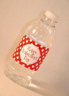 Printable DIY Valentine's Day water bottle labels