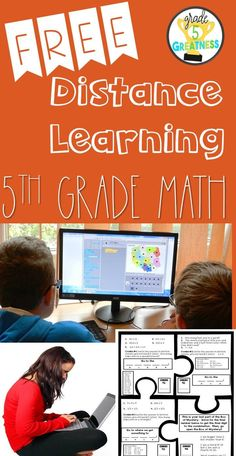 This distance learning math activity is designed to be used in your personal home. It has four puzzle pieces where your child will move throughout the house, solving math problems to lead them to the next puzzle piece.  This is great for parents trying to supplement their child's fifth grade math curriculum while at home or for a fifth grade math teacher to send home with her students!