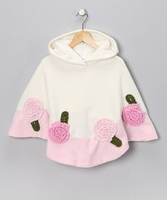 Ivory Fleece Poncho - Toddler & Girls