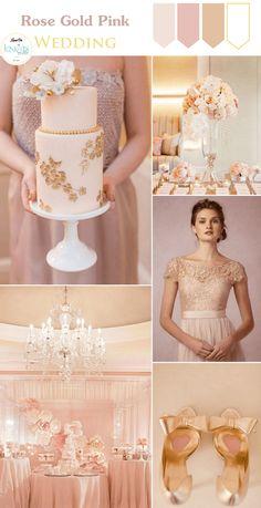 Rose Gold Pink Wedding