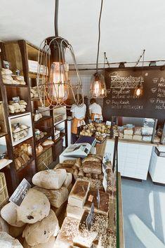 Чудесные лампы в интерьере пекарни