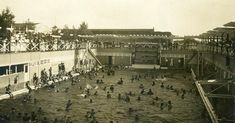 The Glory Years Forest Park Highlands - Pool opened in 1924 was once the largest public pool in the midwest closed 1965 two years after the Highlands burnt down 7-19-63