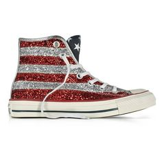 bd6d38332015 Converse Limited Edition Shoes Chuck Taylor All Star Hi Silver and Red...  ( 130) ❤ liked on Polyvore featuring shoes