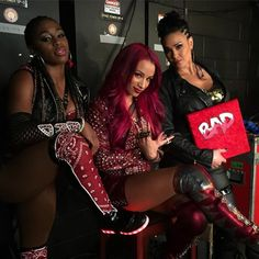Tamina, Naomi and Sasha Banks Naomi Knight, Naomi Wwe, Carmella Wwe, Tamina Snuka, Trinity Fatu, Wwe Sasha Banks, Wwe Wallpaper, Wwe Female Wrestlers, Wwe Girls