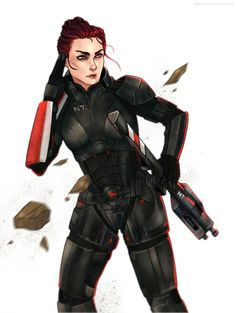 Shepard by Yakina on DeviantArt Mass Effect 1, Mass Effect Universe, Mass Effect Collection, Black Widow Natasha, Commander Shepard, D D Characters, Dragon Age, Anime Comics, Moving Forward