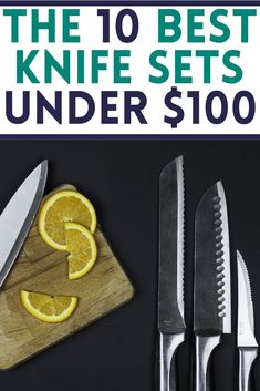 Searching for the Best Knife Set Under $100? We have our top pick as well as the runners up in our Top 10 Knife sets under $100. Find out which is the best knife set for less than $100 and which knife set under $50 is a top pick Knife Block Set, Knife Sets, New Home Checklist, Wood Knife, Home Buying Tips, Steak Knives, Utility Knife, Real Estate Tips, New Homeowner