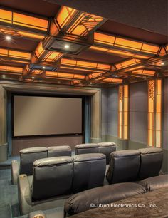 Take your home theater to the next level with Lutron light control. www.lutron.com/residential