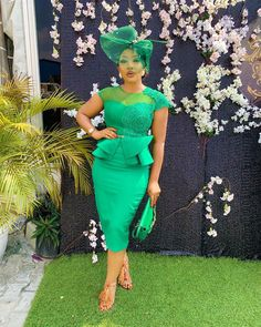 Wedding Guests Steal-worthy Looks - Wedding Digest Naija Nigerian Lace Styles, African Lace Styles, African Lace Dresses, Latest African Fashion Dresses, African Print Fashion, Women's Fashion Dresses, Nigerian Fashion Designers, Lace Gown Styles, Wedding Guest Style