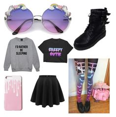 """""""Pastel Goth Summer"""" by externalenthusiast ❤ liked on Polyvore featuring ZeroUV"""
