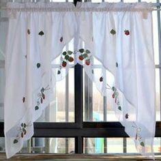 Kitchen Curtain Designs, Kitchen Curtain Sets, Kitchen Curtains, Window Curtains, Short Curtains, Curtain Accessories, Construction Design, Modern Kitchen Design, Stores
