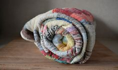 Vintage Traditional Rag Woven Blanket. Medium by catbedoven, $70.00