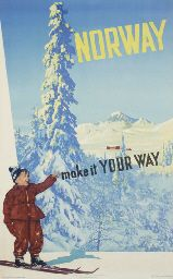 Poster: Norway - make it your way Artist: Photos by Nebo & Wilse 1952 Publisher: Norway Travel Association & Norwegian State Railways Printed by: Offset by Grøndahl & Søn Ski Vintage, Vintage Ski Posters, Retro Posters, Norway Beach, Norway Travel, Travel Europe, Tourism Poster, Beach Trip, Skiing