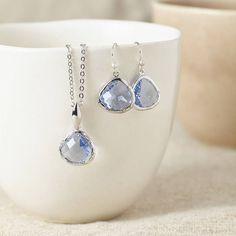 Silver Aquamarine Gemstone Set