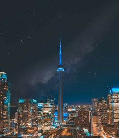 Toronto Toronto Cn Tower, Toronto Ontario Canada, Inspirational Artwork, World Cities, City Landscape, City Lights, Tower Bridge, Beautiful World, Natural
