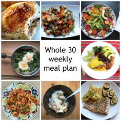 Since the Whole 30 focuses on three square meals a day, this plan includes 21 meals, a little bit bigger than the meal plans I normally post. Feel free to mix and match as you please.