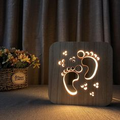 Night Lights Home & Garden Lower Price with Creative Cute 3d Night Light Cello Wooded Frame Usb Power Warm White Light Baby