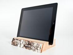 WOOD U? FEEL - iPad-Halterung / Halter mit Rinde