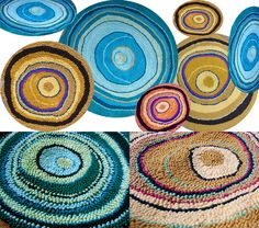 woven rug out of tshirt material