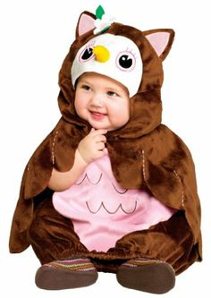 Give A Hoot! Owl Infant Costume, Up to 24 Months, Brown Fun World Costumes,http://www.amazon.com/dp/B007U3F6IQ/ref=cm_sw_r_pi_dp_xzuysb0QK2S57XAW