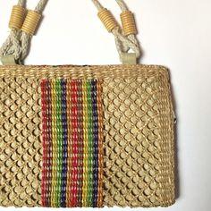 Spotted while shopping on Poshmark: Vintage Woven Rainbow Wicker Purse! #poshmark #fashion #shopping #style #Vintage #Handbags