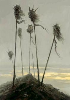 """Seven King"" by Waldemar von Kozak Cool Face, Fantasy Monster, Sword And Sorcery, Face Expressions, Dark Art, Really Cool Stuff, Fantasy Art, Horror, Digital Art"