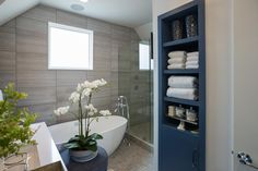 With smart technology, a relaxing color scheme and exceptional storage options, the HGTV Smart Home 2015 master bathroom is quite possibly the best room in the house.