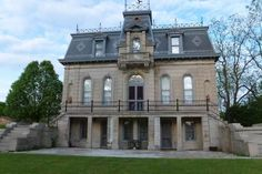 """Known as the """"Matthews Mansion"""", this historic home of John Matthews (considered the """"Father of Indiana Limestone Industry"""") was constructed between 1879-1880, entirely of limestone in the French Second Empire Style. Ettisville, IN"""