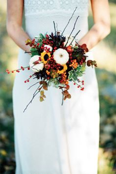 Wedding Bouquets | Fall inspired flowers