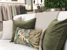 Giannetti Home Antiqued Velvet and Tapestry Pillows