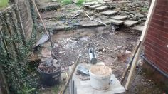 Pond wall knocked down :0) May 2015 I know a lot of you like ponds out there but mine was attracting the midges and they really hate me I swell up like a swelly thing.