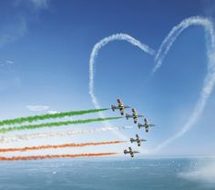 National Flag India, Indian Flag Wallpaper, Republic Day India, Summer Quotes, Air Show, Stunts, Wallpaper Backgrounds, Cool Pictures, Landscape