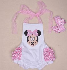 "THE MINNIE BUBBLE ROMPER SET  Price $29.99, Free Shipping Options: 0/6M, 6/12M, 12/18, 18/24M, 1/2T, 2/3T To purchase, comment ""Sold"", size & EmaiL INCLUDES EVERYTHING PICTURED*"