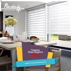 Oportunidad! Obtén las persianas Sheer Elegance desde $890 el m2. Válido hasta el 15 de noviembre. - http://ift.tt/1QIZuz0