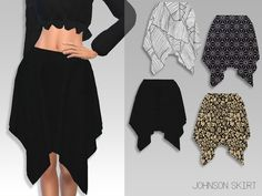 The Sims Resource: Johnson Skirt by GrafitySims • Sims 4 Downloads