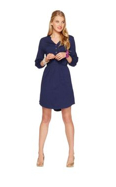 This fall, the modern shirt dress is making a comeback in a bigger-than-big way. The Beckett is a easy-fitting Pima Cotton Jersey dress with a trend-right shirttail hem, comfy elastic waist, a delicate side pocket and our signature gold buttons. Inspired by your favorite Elsa Top, the Beckett is sure to be your favorite fall day dress.