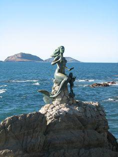 Mermaid Statue, Mazatlan, Mexico! I book travel! Land or Sea! http://www.getawaycruiseplanner.com