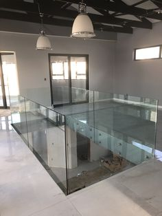 Side mount Balustrades using 304 stainless steel studs Frameless Glass Balustrade, Safety Glass, Staircases, Studs, Stainless Steel, Doors, Live, Design, Ladders