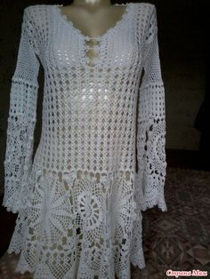 Crochet Long Dresses, Black Crochet Dress, Crochet Clothes, Crochet Motifs, Knit Crochet, Crochet Patterns, Long Dress Patterns, Blouse And Skirt, New Fashion Trends